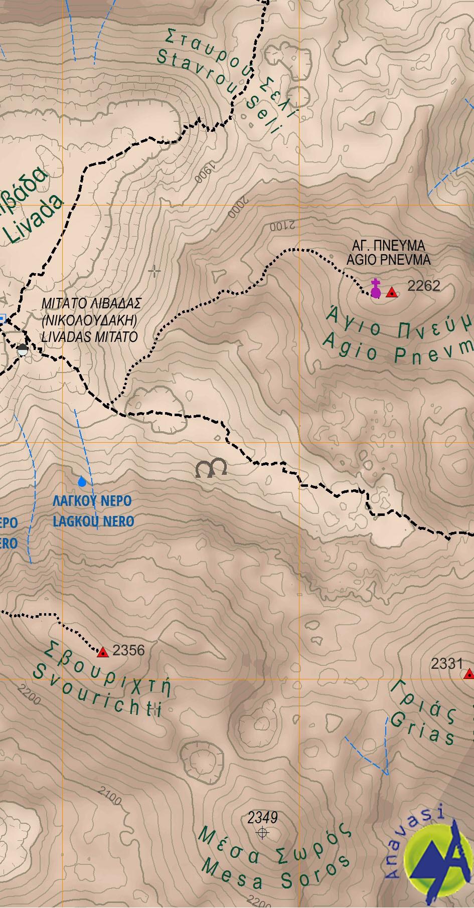 Lefka Ori - Sfakia / Pahnes • Hiking map 1:25.000