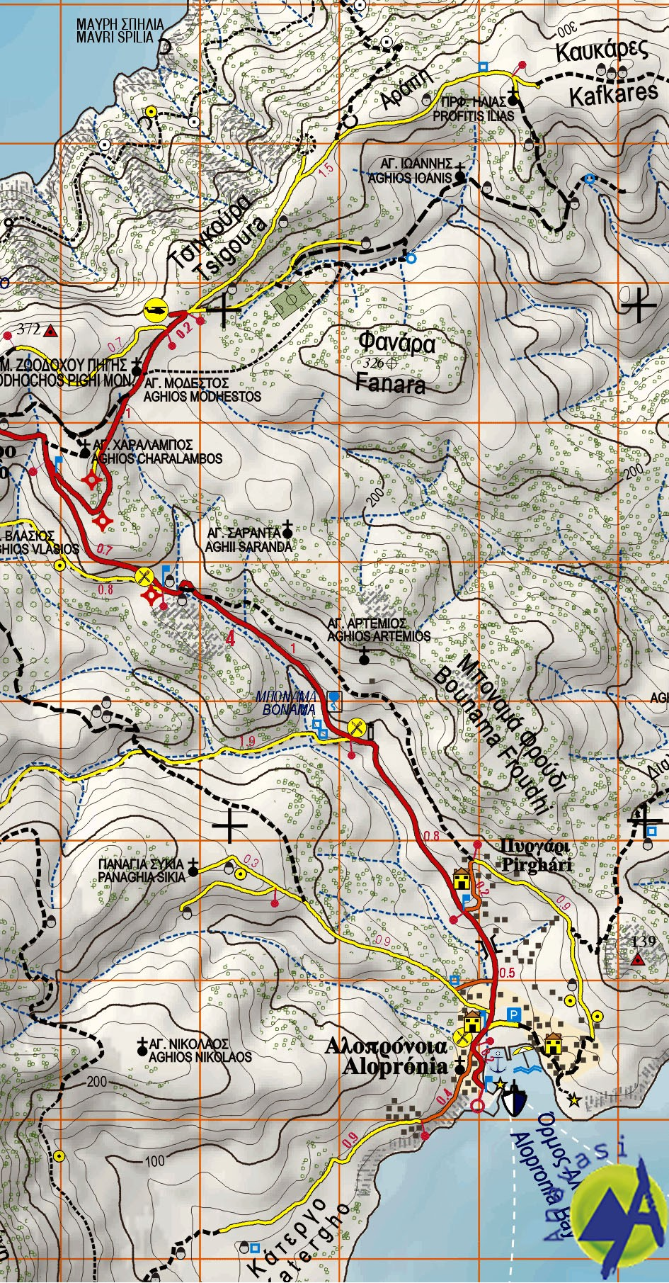 Sikinos • Hiking map 1:25.000