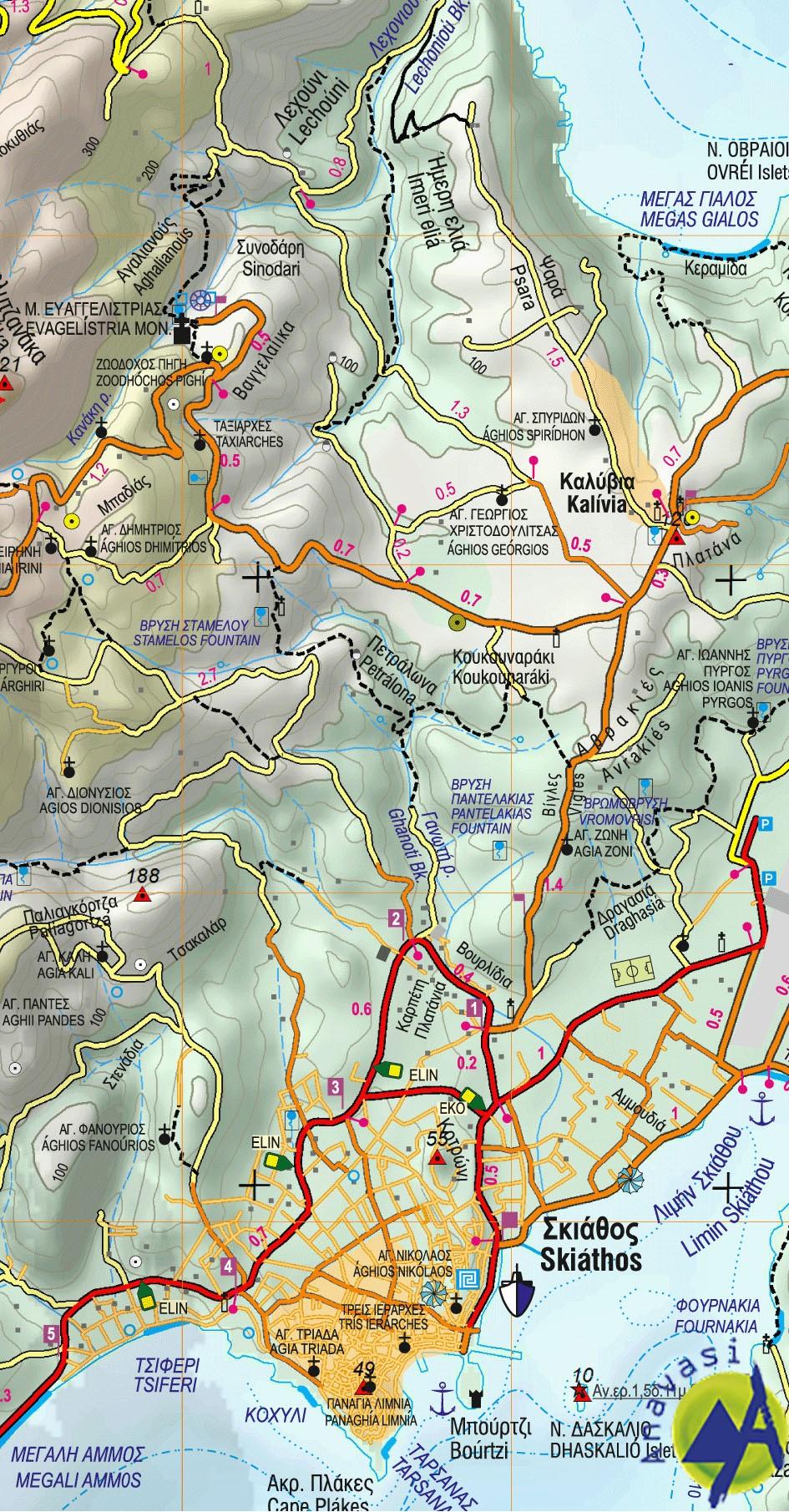 Skiathos • Hiking map 1:25.000