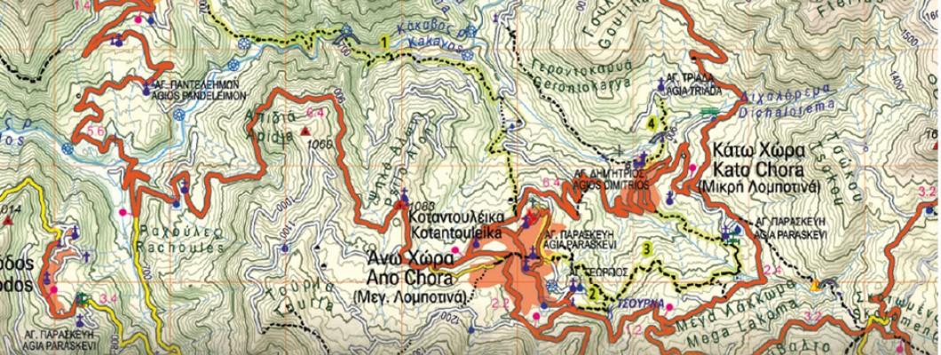 Map Orini Nafpaktia presented by local Nafpaktos newspaper Empros News