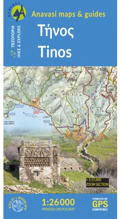 Tinos • Hiking map 1:26.000