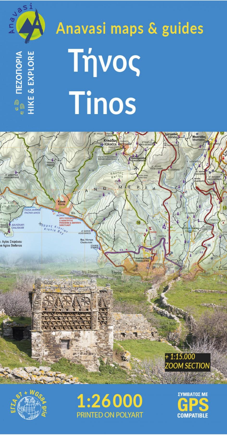 Tinos • Hiking map 1:26.000