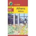 Athens Attica, Athens city map