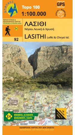 Lasithi , Lefki & Chrysi • Road map 1:100.000