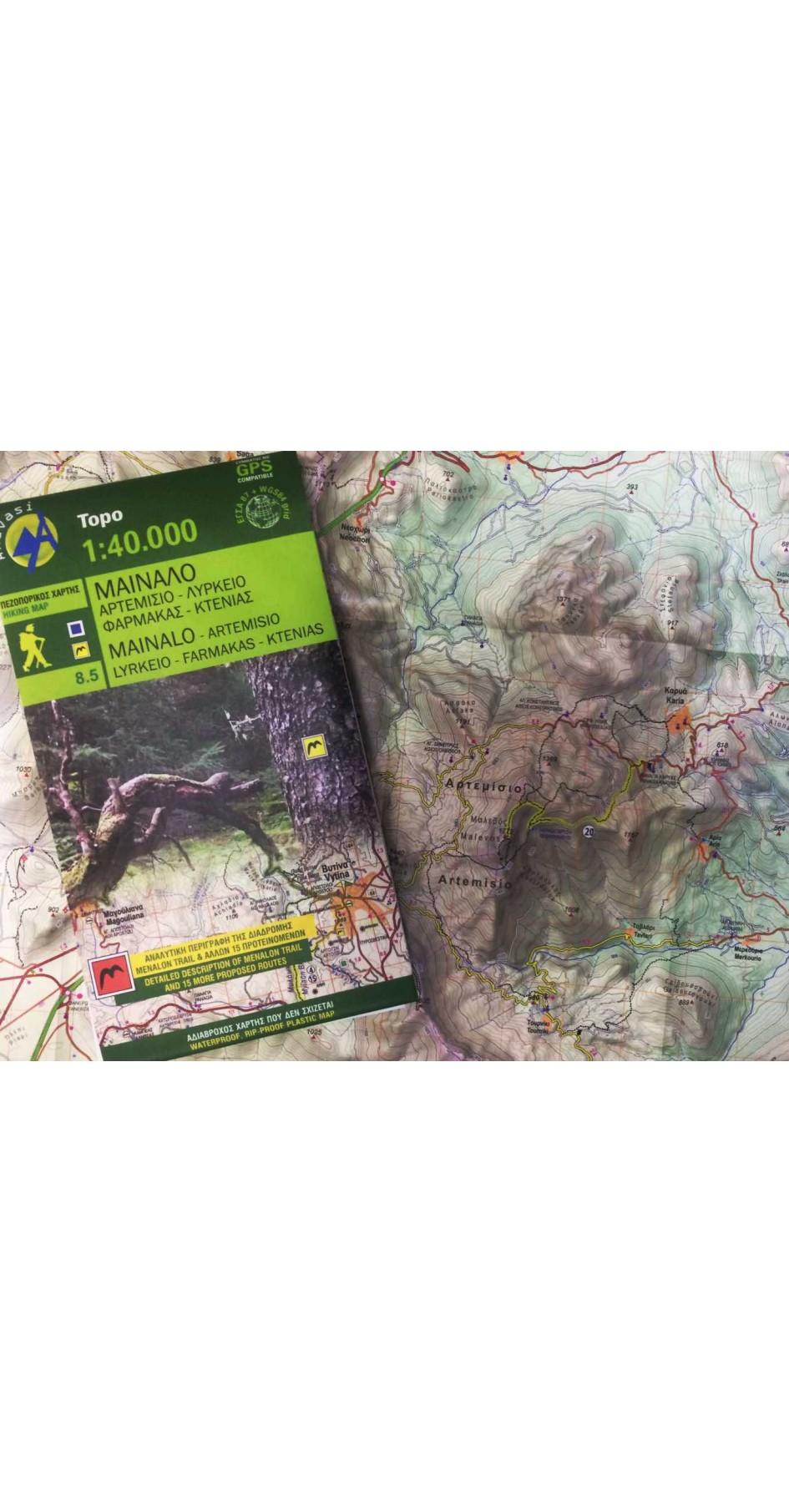 Mainalo - Artemisio • Hiking map 1:40000