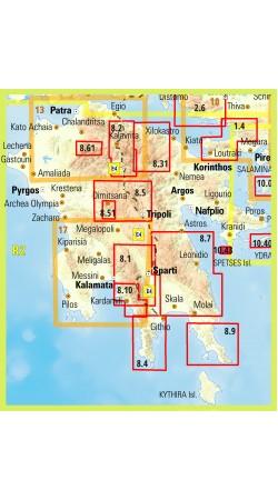 Spetses • Hiking map 1:12.500