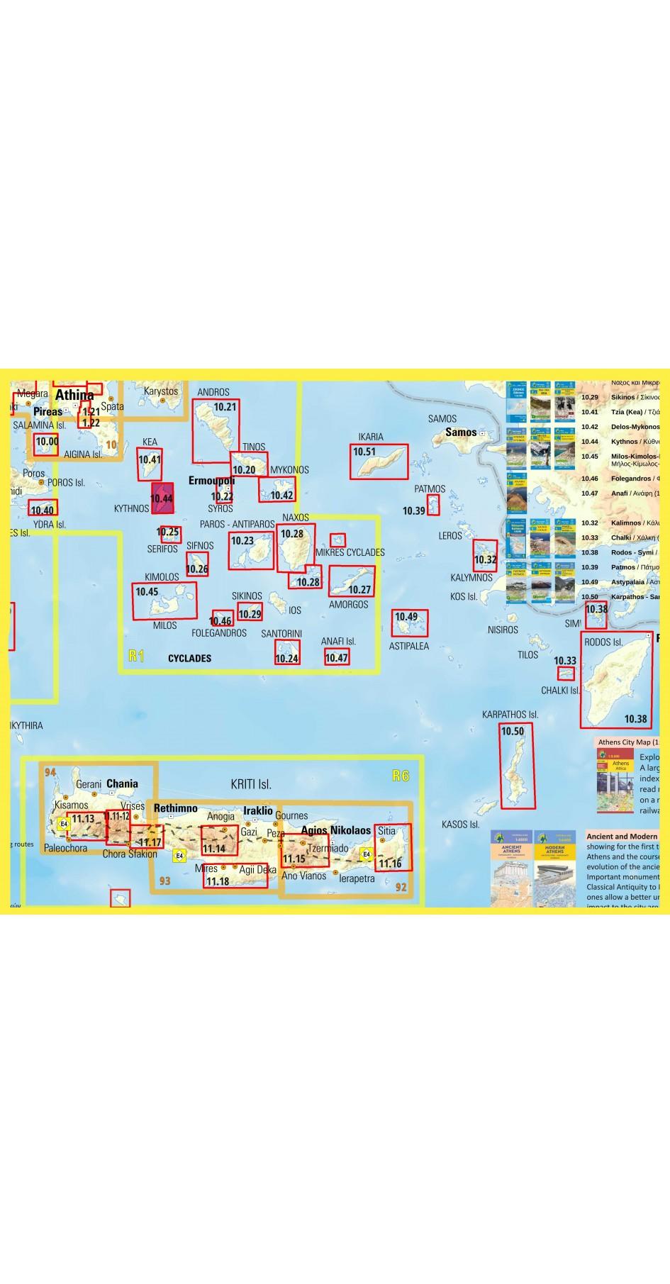 Kythnos • Hiking map 1:31.000