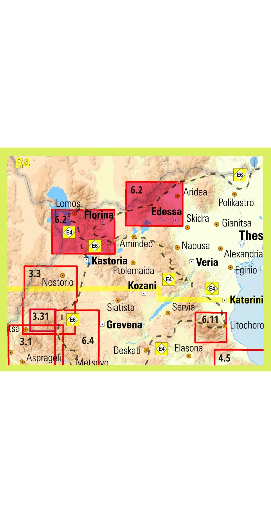 Prespa Voras Vitsi • Hiking map 1:50 000
