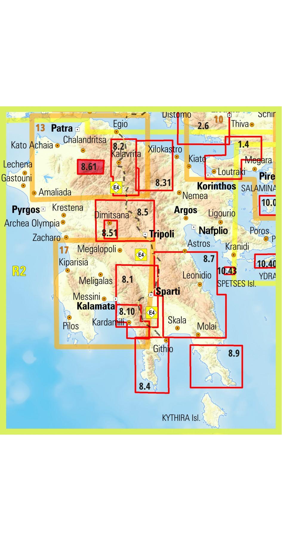 Erimanthos • Hiking map 1:25000