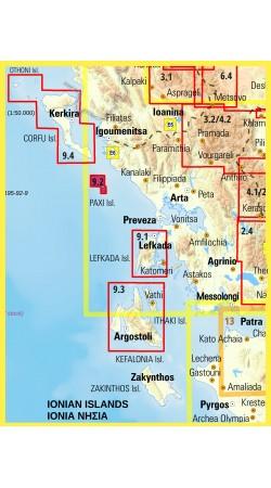 Paxoi - Antipaxoi • Hiking map 1:17.000