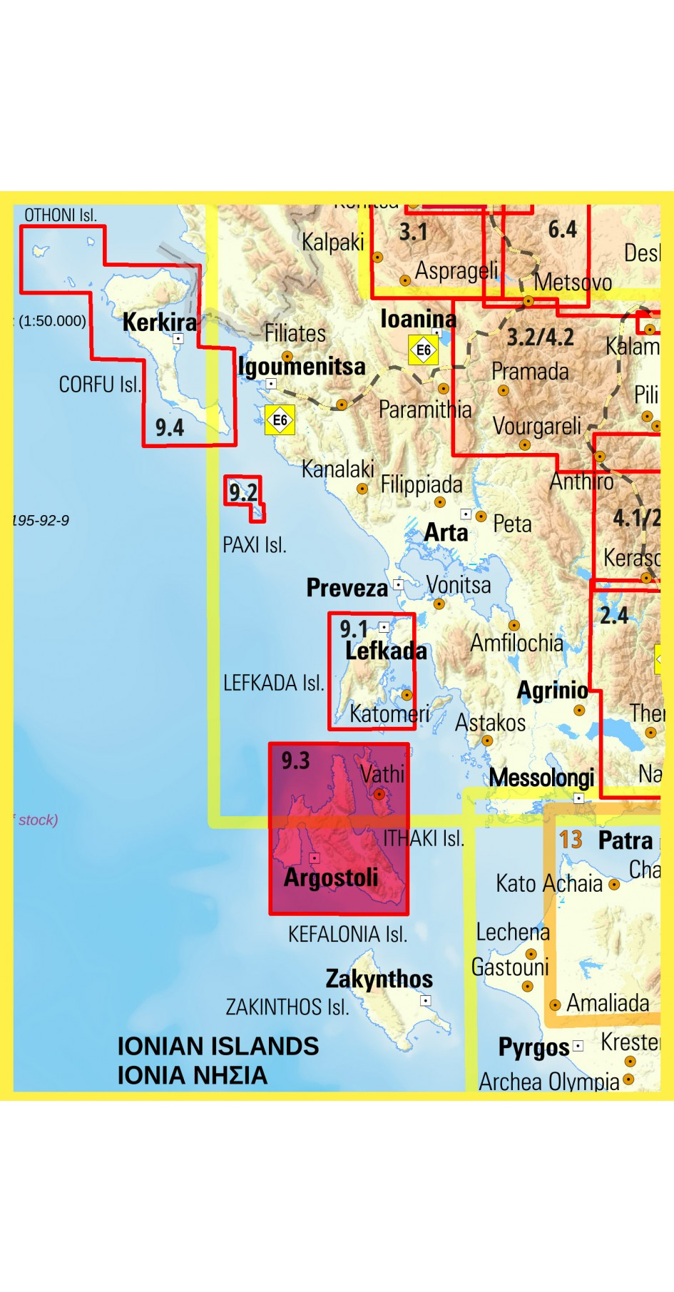 Cephalonia - Ithaca • Hiking map 1:65 000 - 1:25 000