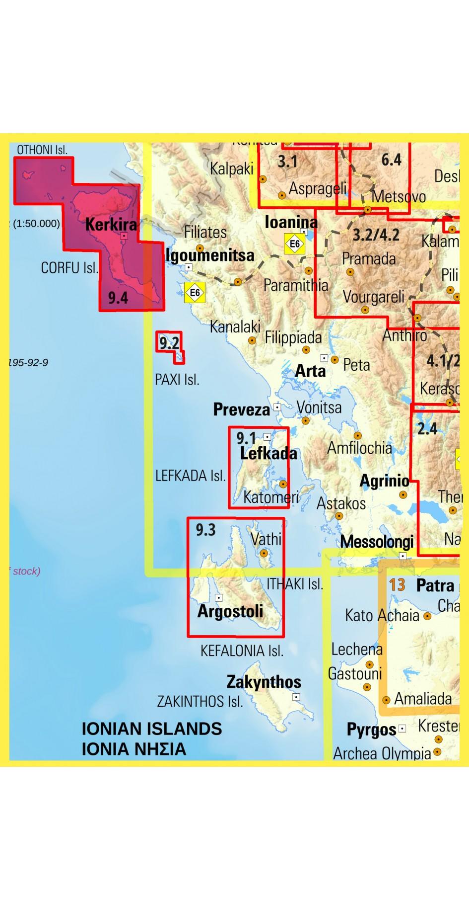Corfu • Hiking map 1:40 000