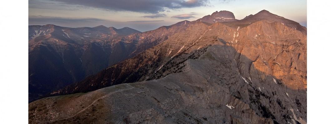 From Refuge A. to Mitikas (Olympus peak) through Kakia Skala
