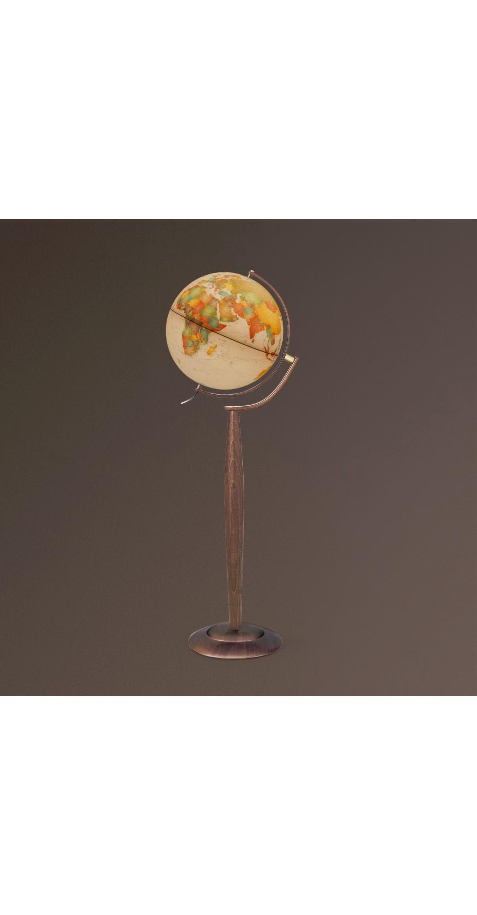 Globe antique 37 cm floor standing globe